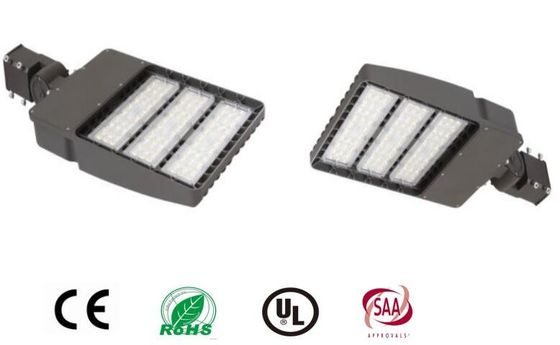 Cina IP65 100W LED Shoebox Light, 6000K Led Outdoor Parking Lot Lights DLC Terdaftar pemasok