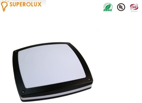 Cina waterproof 1600 lumen IP65 Outdoor LED Ceiling Light black cover die cast aluminum pabrik